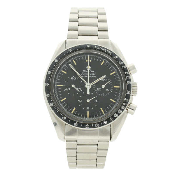 1970 Stainless steel Speedmaster Ref: 145.022 on steel bracelet by OMEGA