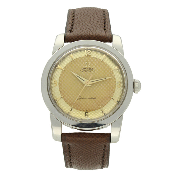 1955 Stainless steel Seamaster automatic 'Bumper' wristwatch with honeycomb dial by OMEGA