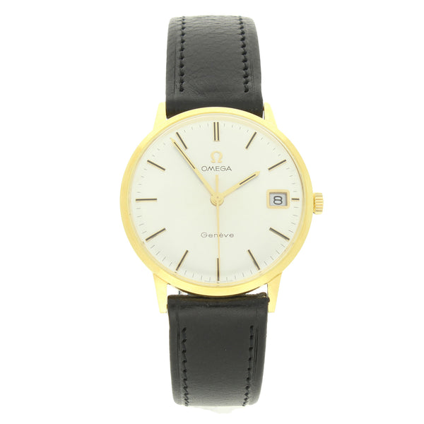 1969 18ct Yellow gold Geneve dress watch with date by OMEGA