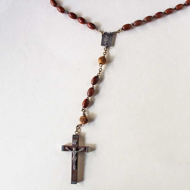 Antique Rosary (brown)