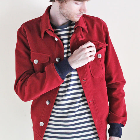 Beggars Run - Moleskin Bomber Jacket (burgundy)