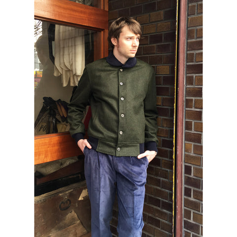 Beggars Run - Green Corsair Wool/Alpaca Bomber Jacket