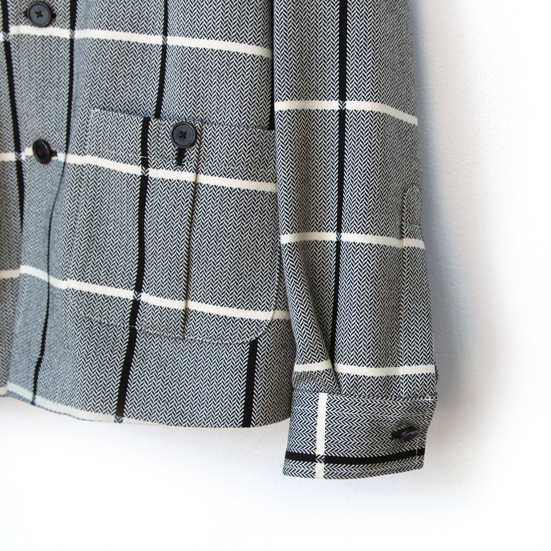 Beggars Run - Checkered Mason Jacket (black & white)