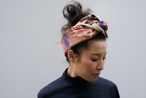 YARN & COPPER - SILK HEAD SCARF 'Wednesday'
