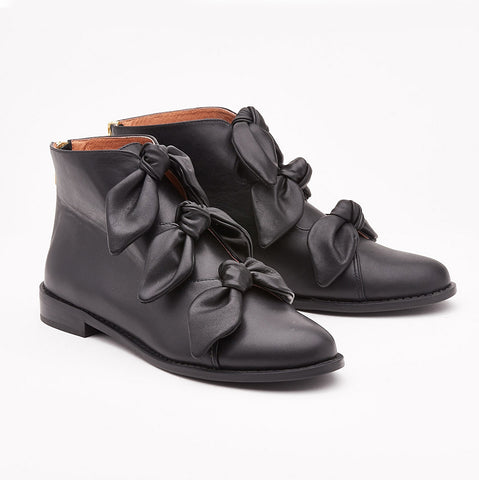 F-Troupe - Leather New Bow Boots (black)