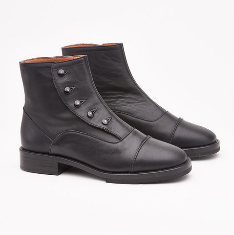 F-Troupe - Leather Button Boots (Black)