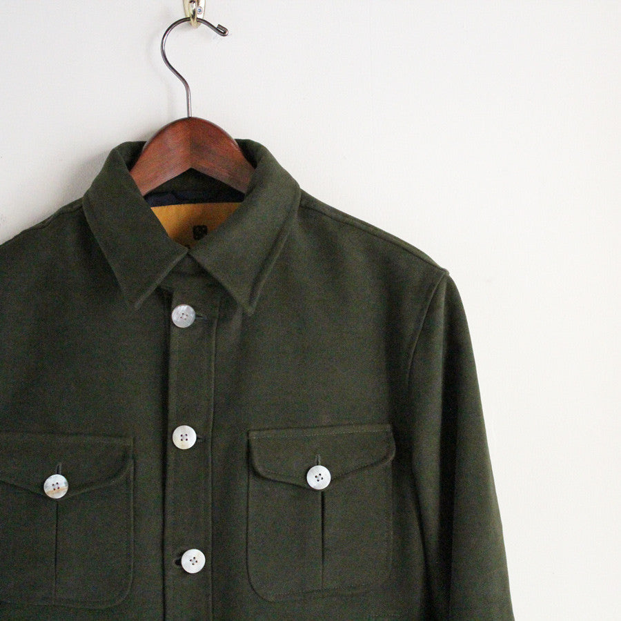 Beggars Run - Heavyweight Moleskin Bomber Jacket (dark olive)