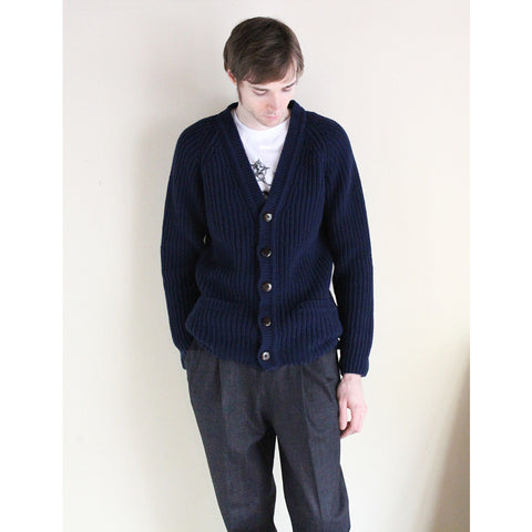 "La Paz - Lambswool Cardigan ""COSTA""(navy)"