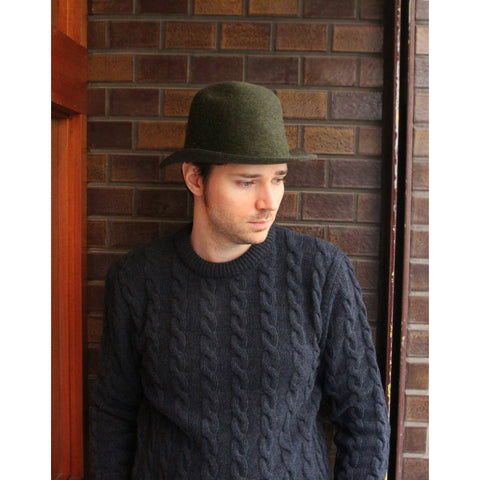 "LA PAZ - Wool Hat ""CORDEIRO""(green)"