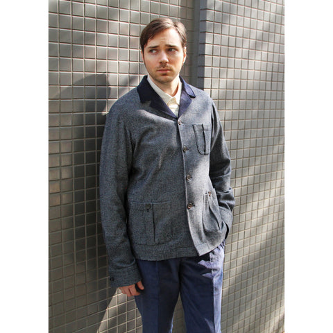 Beggars Run - Navy /Cream Cashmere Mason Jacket