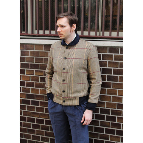 Beggars Run - Heritage Check Corsair Lambswool Bomber Jacket