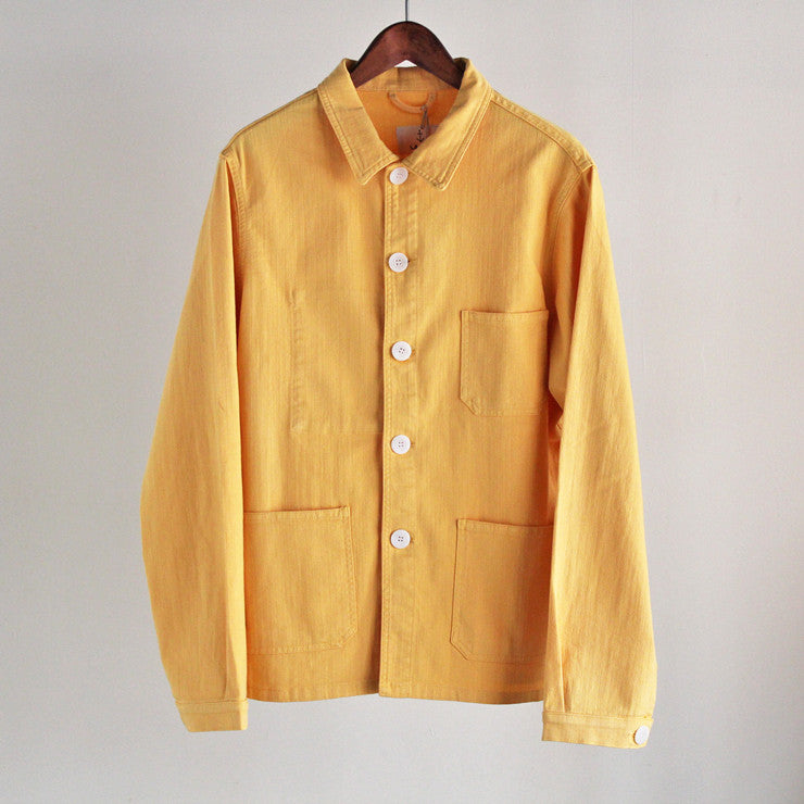"LA PAZ - Cotton Jacket ""BAPTISTA"" (mustard yellow)"
