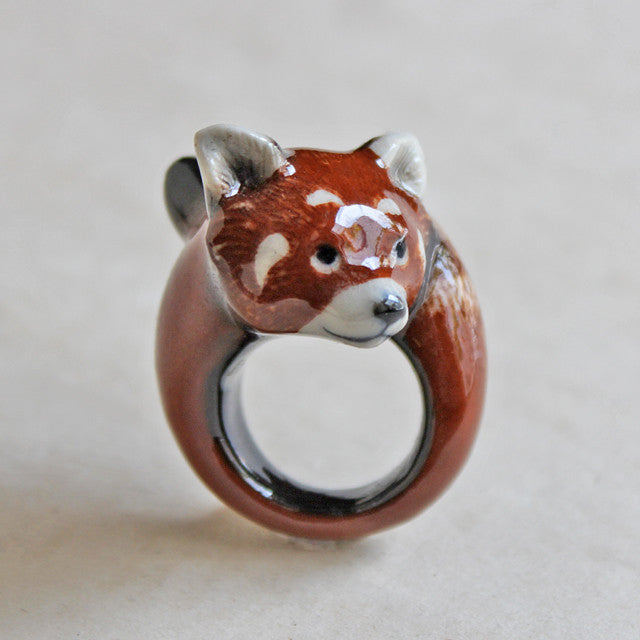 Nach Jewellery - Red Panda ring / レッドパンダ・リング