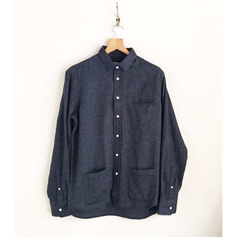 "LA PAZ - Front Pocket Shirts ""CASTRO""(grey)"