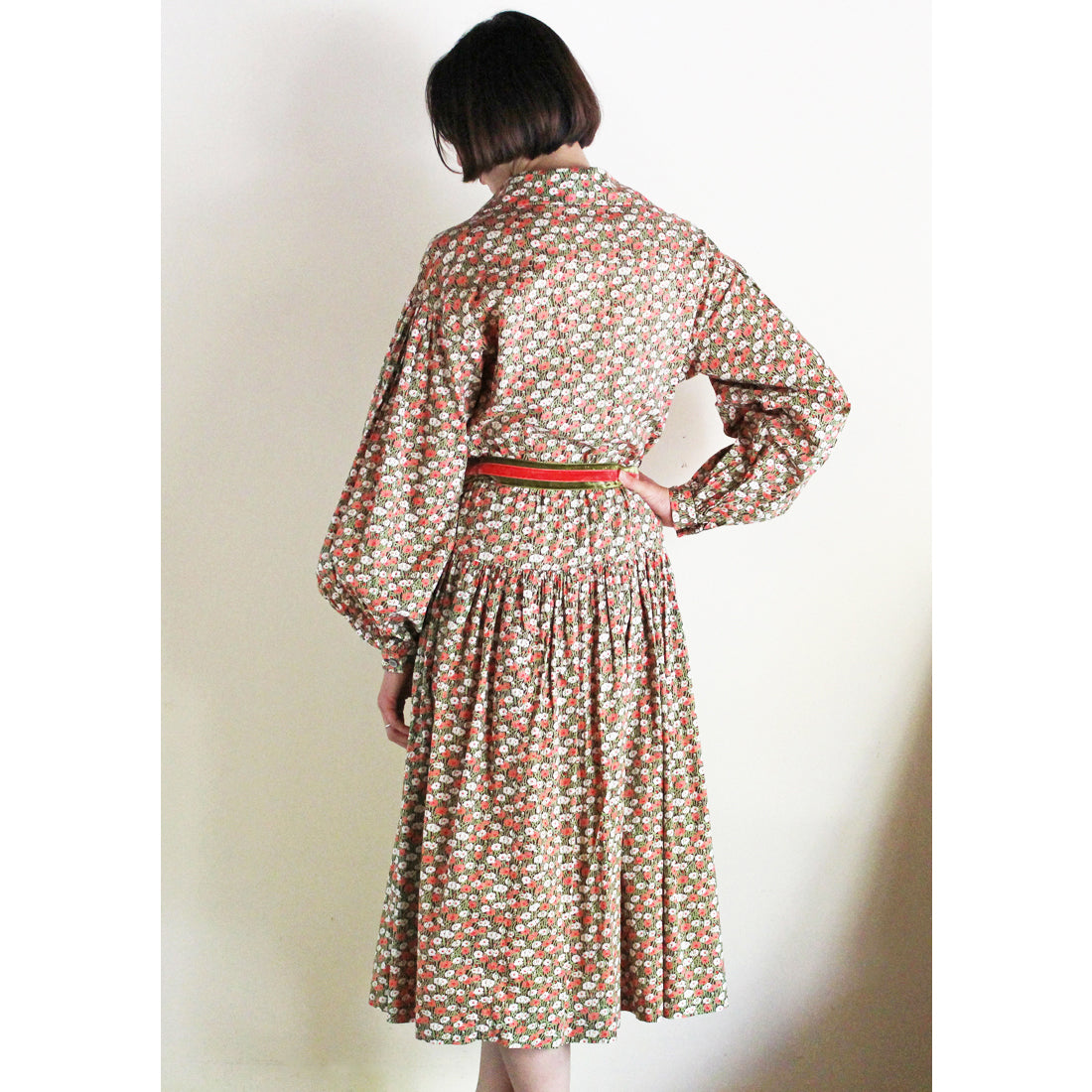 "1970s ""Miss Feraud"" Floral Dress"