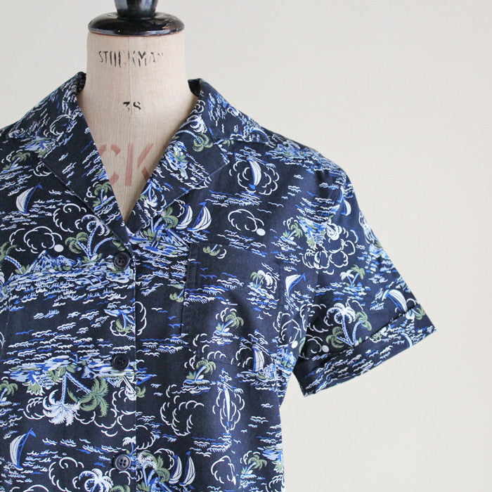 YMC (women) - Hawaii Print Shirt