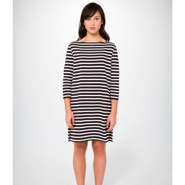YMC (Women's) - Stripe Dress (black/cream)