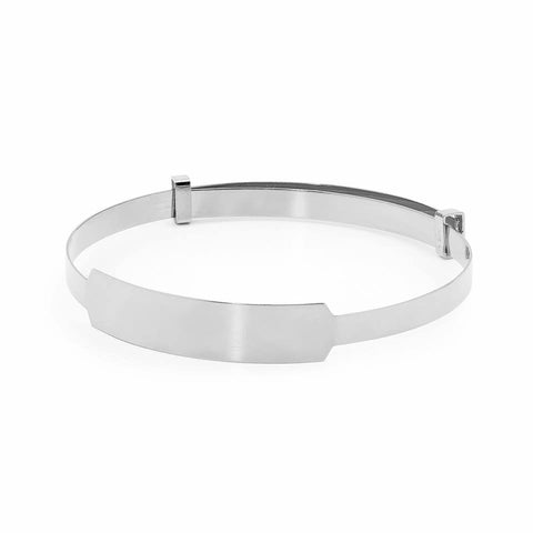 Piccolo Name Plate Expandable Silver Bangle