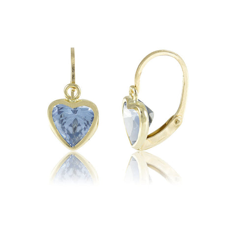Hoops - 18K GOLD Blue Cubic Heart