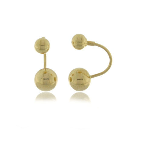 18K Gold Double Earrings