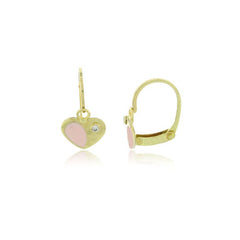 Hoops - 18K GOLD Pink Heart