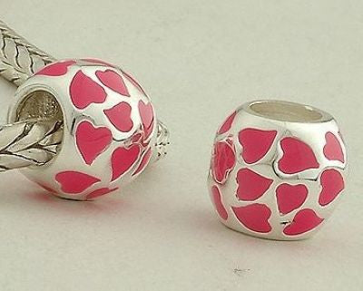 Pendant - Ball of Tiny Pink Hearts