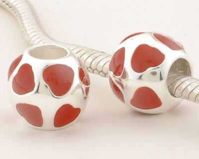 Pendant - Ball of Red Hearts