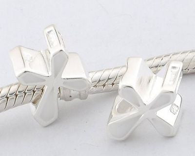 Pendant - White Enamel Cross