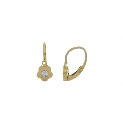 Hoops - 18K GOLD Sparkle Flower