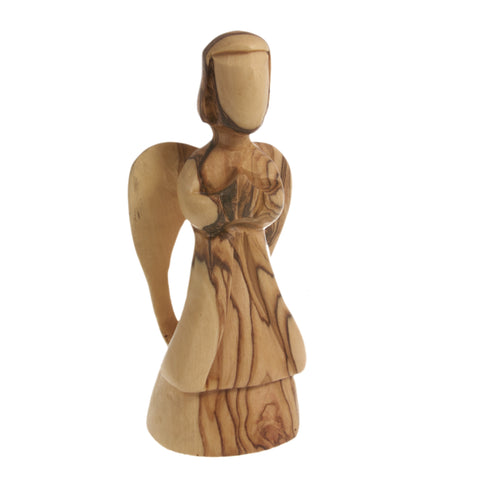 Olive Wood Angel Statue