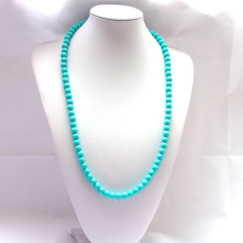 Teething Necklace - All Teal Beads
