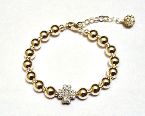 Kimberley Lang Pearl and Silver  Lucky Bracelet