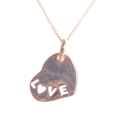 Rose Gold Love Heart Pendant