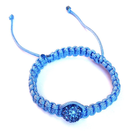 One Bead Baby Shamballa (Baby Blue)