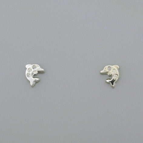 Sterling Silver Screw Back Dolphins