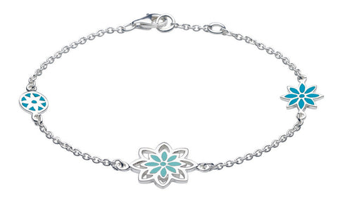 Dew - Blue Flower Bracelet