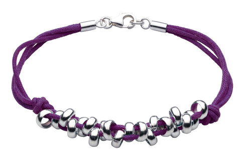 Dew - Purple Pebble Bracelet