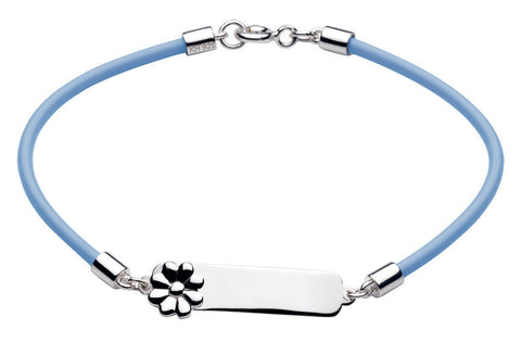 Dew - Blue Flower Id Bracelet
