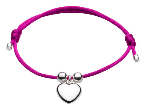 Dew - Pink Adjustable Heart Bracelet