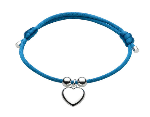 Dew - Blue Adjustable Heart Bracelet