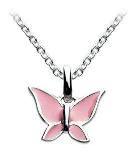 "Dew - Pink Butterfly 20"" Necklace Set"
