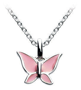 "Dew - Pink Butterfly 18"" Necklace Set"