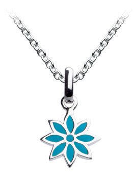 "Dew - Blue Flower 18"" Necklace Set"
