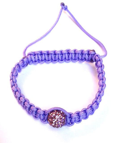 One Bead Baby Shamballa (Purple)
