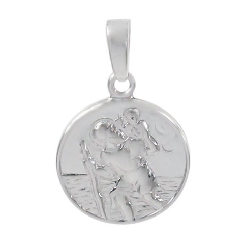 Italian St. Christopher Sterling Silver Necklace Set