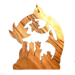 Olive Wood Christmas Decoration - THREE WISE MEN (B)