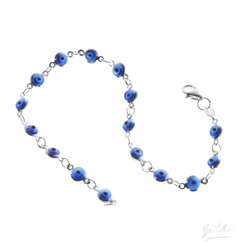 Delicate Evil Eye Bracelet - Dark Blue
