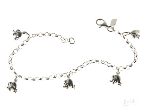 Elephant Dangle Bracelet