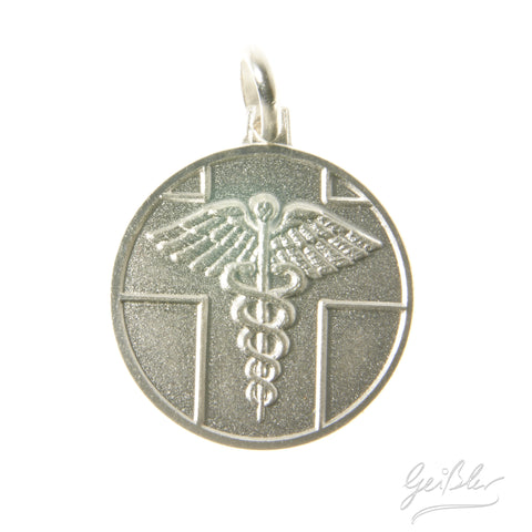 Sterling Silver Medic Alert Round Pendant