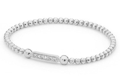 Piccolo Expandable Baby Ball Bracelet with Cubic Zirconias